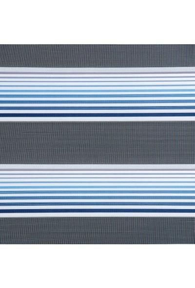 Güneş Perde Brillant Mavi Renk Geçişli Zebra 100X200 cm