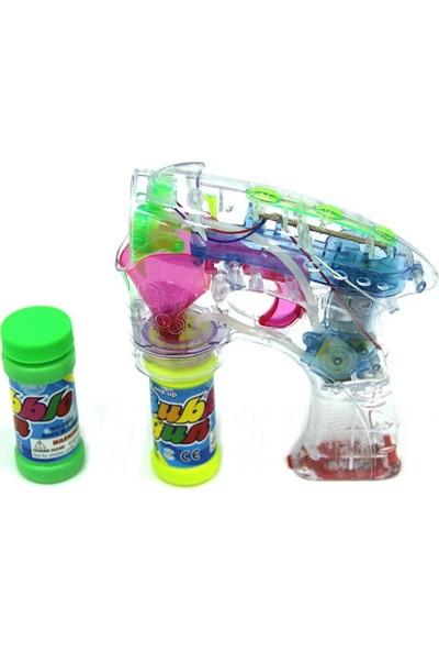 Flash Bubble Gun Pilli Işıklı Köpük Tabancası