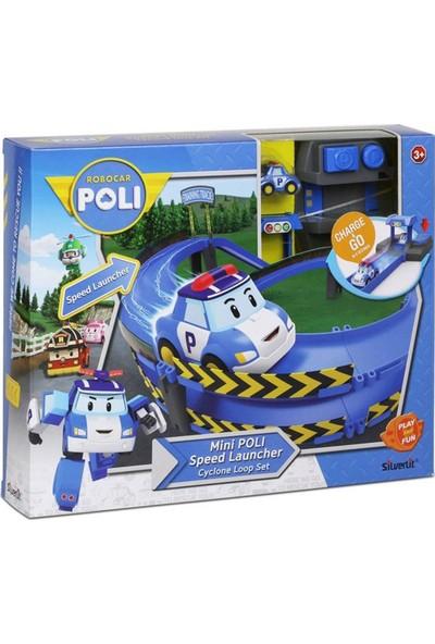 Neco Robocar Poli Fırlatıcılı Ve Virajlı Yol Seti