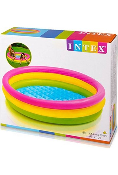 Intex 57412 Sunset Yumuşak Tabanlı Çocuk Havuzu 114x25 Cm
