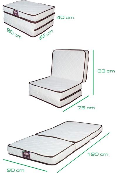 Viscotherm Katlanır Yaylı Tek Kişilik Yatak 90x190 cm