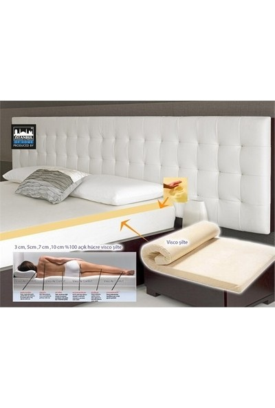 Aircomfort Visco Şilte 3 cm 160x200-2 Adet Visco Air Neck Yastık Hediye