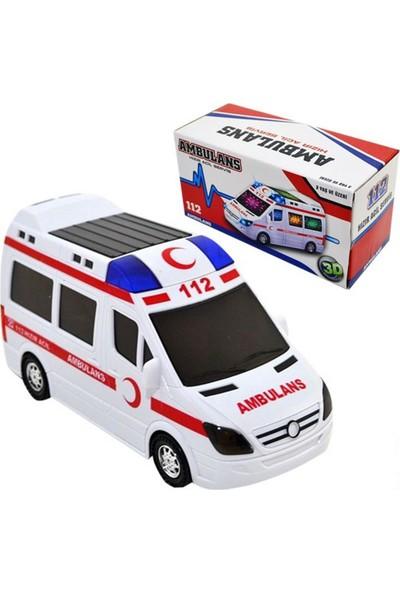 Can Ali Sesli 3D Işıklı Ambulans