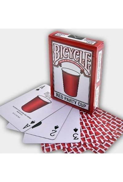 Bicycle Red Party Cup Premium Koleksiyonluk İskambil Oyun Kağıdı Kartları