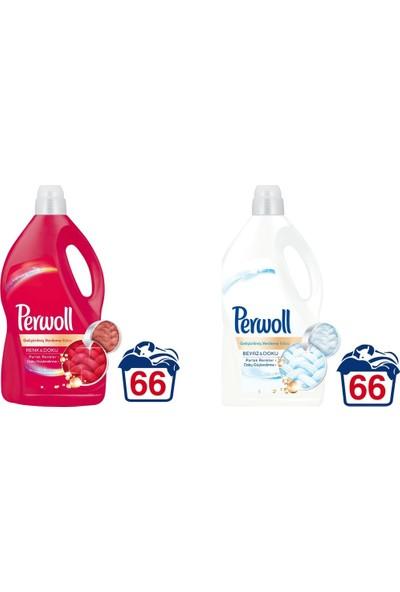 Perwoll Parlak Renkler + Beyazlar 66 Yıkama 2'Li Set