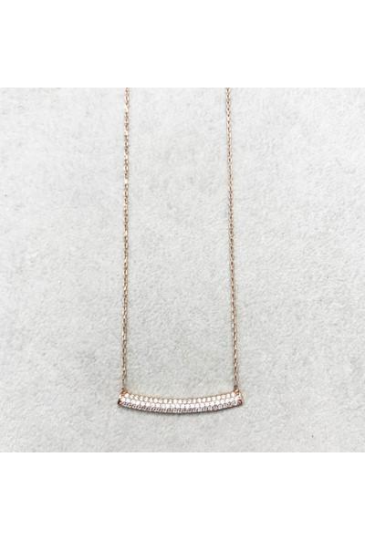 Vella Jewels Taşlı Çucuk Kolye 45 Cm