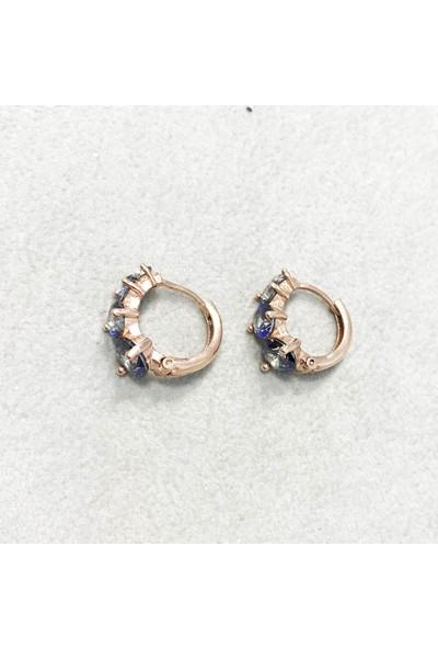 Vella Jewels Ebruli Taşlı Mini Halka Küpe