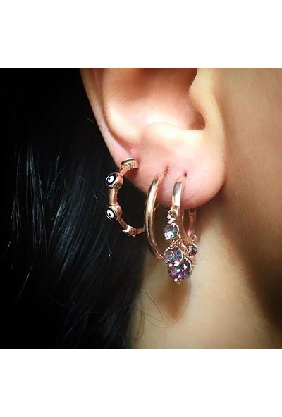 Vella Jewels Ebruli Taşlı Şakira Küpe
