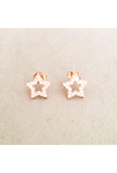 Vella Jewels Mini Taşlı İçi Boş Yıldız Küpe