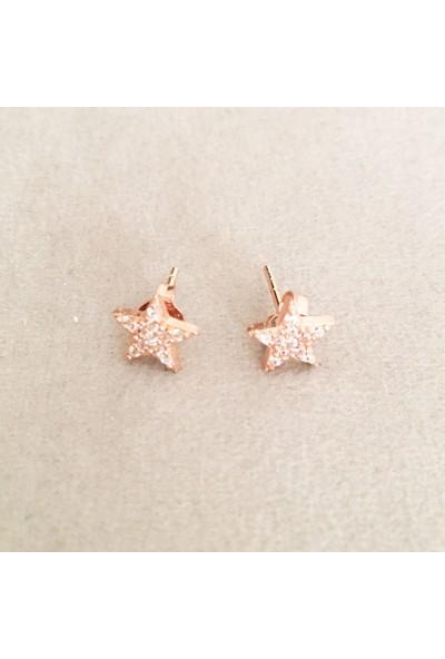 Vella Jewels Mini Taşlı Yıldız Çivi Küpe