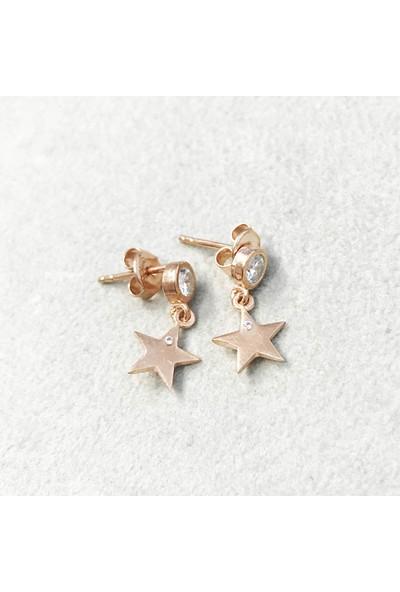 Vella Jewels Taşlı Yıldız Figürlü Çıtır Küpe