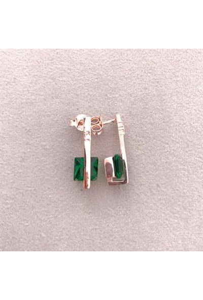 Vella Jewels Zümrüt Yeşili Taşlı Çıtır Küpe