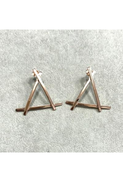 Vella Jewels Minimal Üçgen Küpe