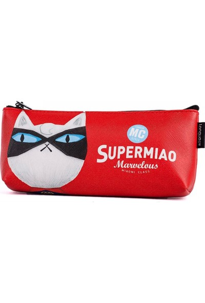 Languo Süper Kedi Kalem Kutusu - Kırmızı