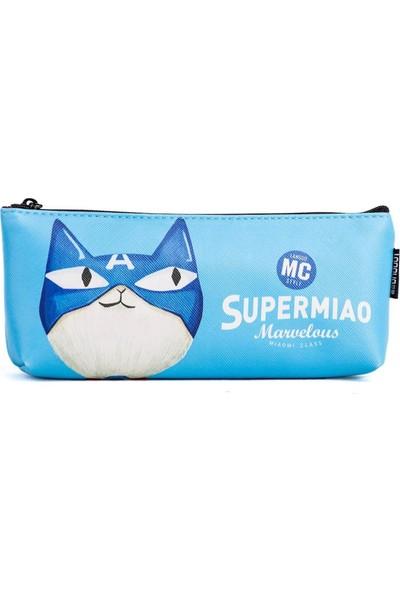 Languo Süper Kedi Kalem Kutusu - Mavi