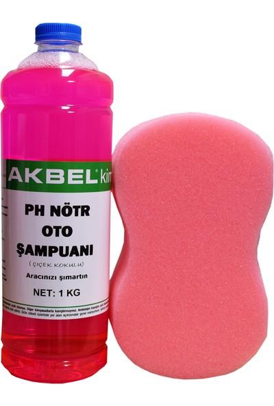 Akbel Ph Nötr Oto Şampuanı 1 Kg (Çiçek Kokulu)+Yıkama Süngeri