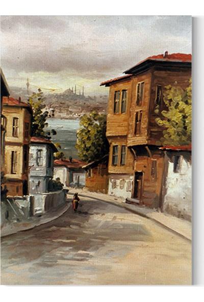 Desenlio İstanbul Manzaralı Yağlı Boya Görünümlü Kanvas Tablo