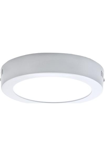 Sıva Üstü Slim Led Downlight Beyaz Gövde 24W Yuvarlak 6500K Beyaz Işık Lamptıme