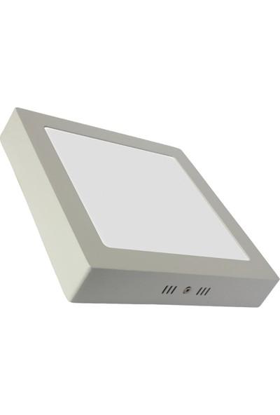 Sıva Üstü Slim Led Downlight Beyaz Gövde 24W Kare 6500K Beyaz Işık Lamptıme