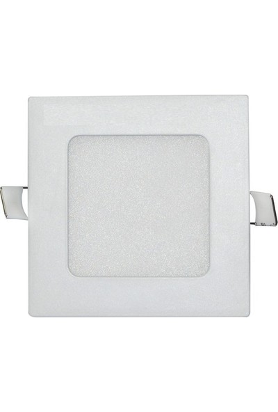 Sıva Altı Slim LED Downlight 6W Kare Beyaz Gövde 4000K IlıkBeyaz Işık Lamptıme