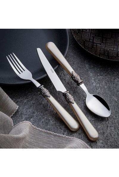 Nehir Vintage 36 Parça Çatal Kaşık Bıçak Takımı,Plastik Saplı Çatal Kaşık Takımı,