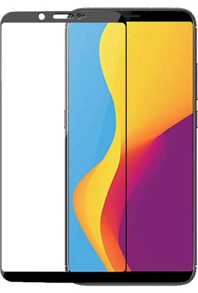 Microcase ZTE Nubia V18 Tam Kaplayan Çerçeveli Tempered Ekran Koruyucu - Siyah