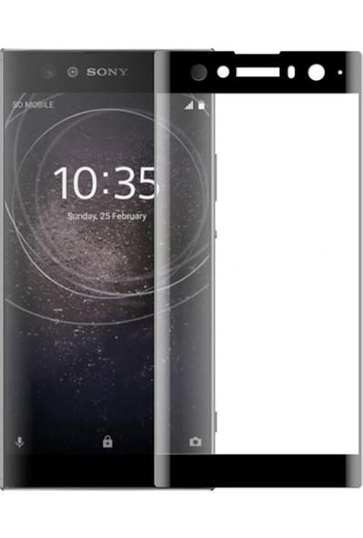 Microcase Sony Xperia XA2 Ultra 3D Kavisli Tempered Cam Koruma - Siyah
