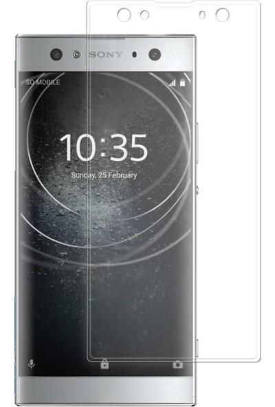 Microcase Sony Xperia XA2 Ultra 3D Kavisli Tempered Cam Koruma - Şeffaf