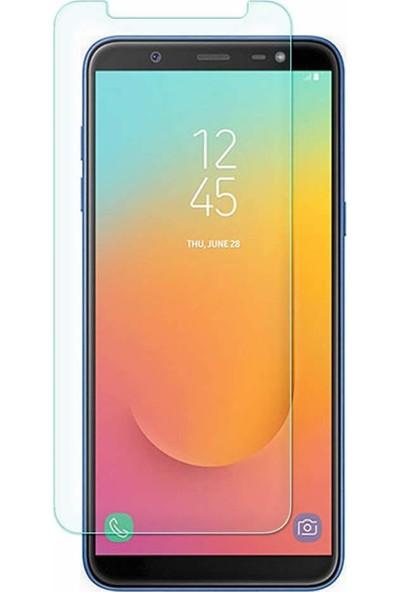Microcase Samsung Galaxy J8 2018 Tempered Glass Cam Ekran Koruma