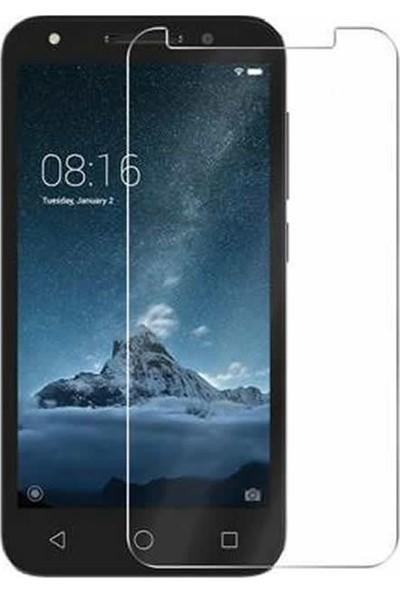 Microcase Alcatel U5 Tempered Glass Cam Ekran Koruma