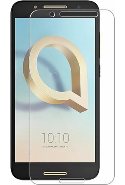 Microcase Alcatel A7 Tempered Glass Cam Ekran Koruma