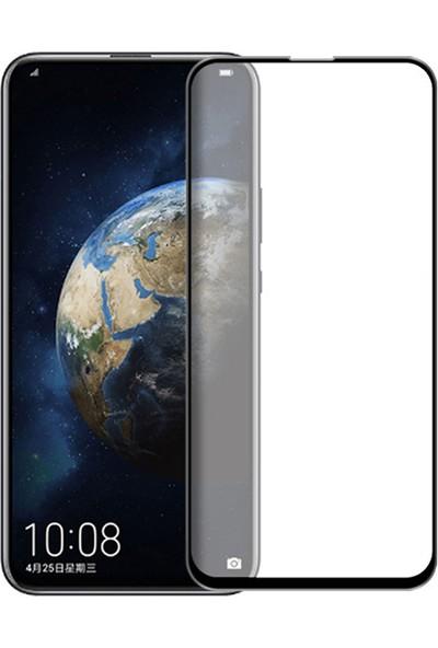 Microcase Huawei Honor Magic 2 Tam Kaplayan Çerçeveli Tempered Ekran Koruyucu - Siyah