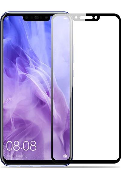 Microcase Huawei Nova 3 Tam Kaplayan Çerçeveli Tempered Ekran Koruyucu - Siyah