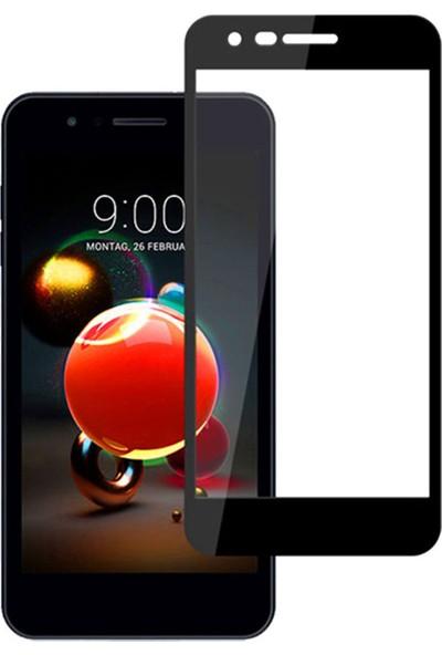 Microcase LG K9 / K8 2018 Tam Kaplayan Çerçeveli Tempered Ekran Koruyucu - Siyah