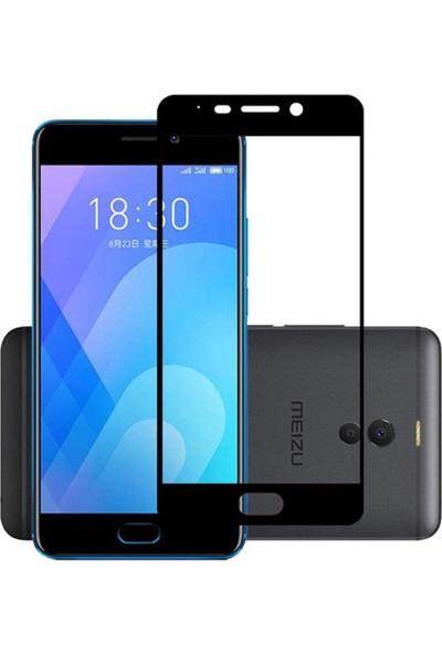 Microcase Meizu M6 Note Tam Kaplayan Çerçeveli Tempered Ekran Koruyucu - Siyah
