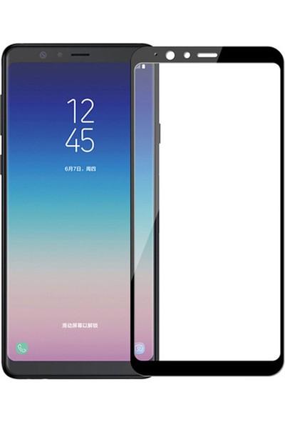 Microcase Samsung Galaxy A9 Star Tam Kaplayan Çerçeveli Tempered Ekran Koruyucu - Siyah