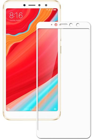 Microcase Xiaomi Redmi S2 Tam Kaplayan Çerçeveli Tempered Ekran Koruyucu - Beyaz