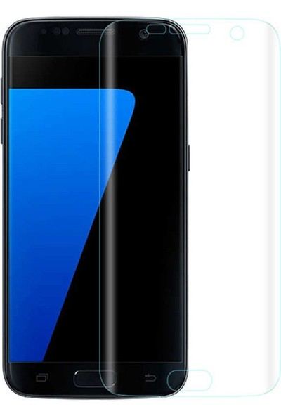 Microcase Samsung Galaxy S7 Full Ekran Koruma Curved 3D Pet Film - Şeffaf