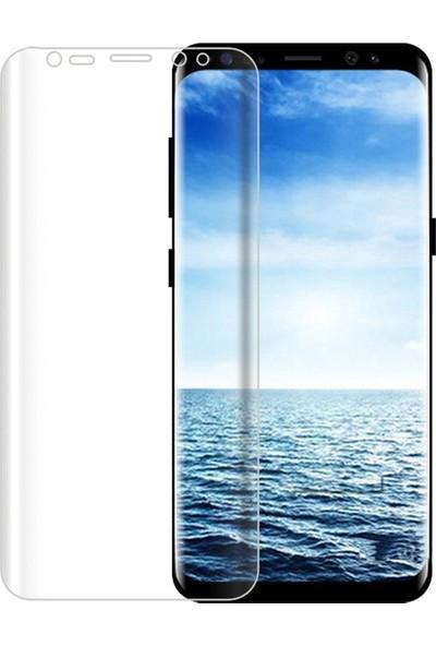 Microcase Samsung Galaxy S8 Plus Full Ekran Koruma Curved 3D Pet Film - Şeffaf