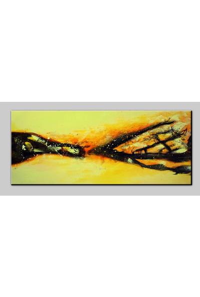 Dekomuz Soyut Kanvas Tablo 120 x 40 cm