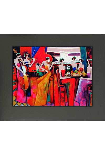Dekomuz Müzisyen Kadınlar Kanvas Tablo 90 x 60 cm