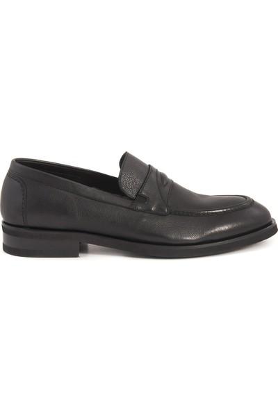 Mocassini Siyah 4105-1 Klasik - Oxford Ayakabı