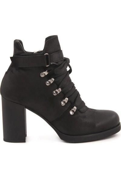 Rouge Siyah 7652 Topuklu Ayakabı