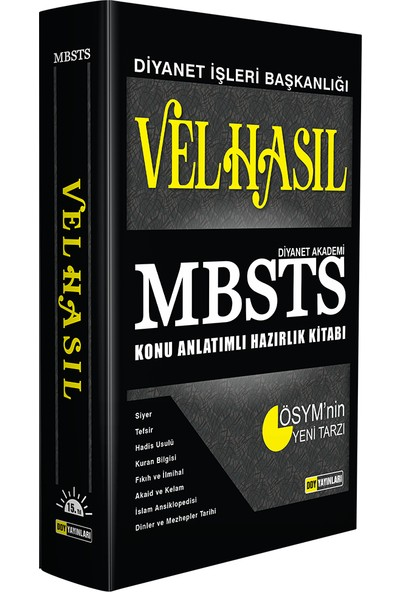 Ddy Yayınları Velhasıl Mbsts Konu Anlatımlı Hazırlık Kitabı