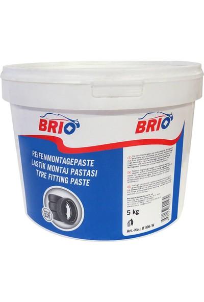Brio Lastik Montaj Kremi Beyaz 5 Kg
