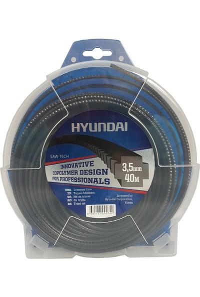 Hyundai 4.00Mm 30 Mt.Tırtıklı Siyah Tırpan Misinası Ot Çim Kesme İpi