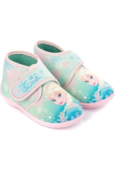 Disney Frozen Elsa Panduf - Cırt Cırtlı Açık Mavi Pembe