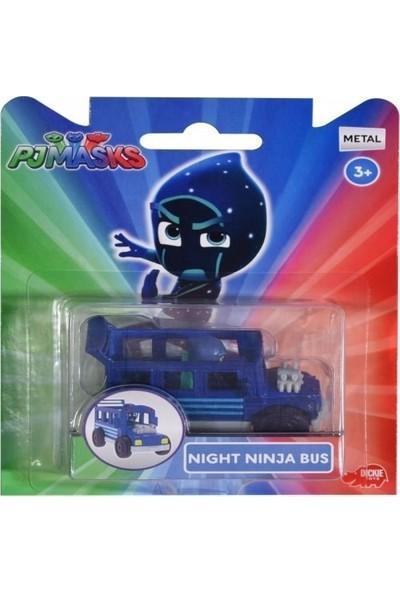 Pj Masks Pijamaskeliler Night Ninja Çocuk Ve Otobüsü Metal