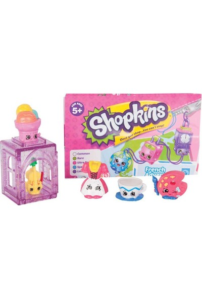 Shopkins Cicibiciler Avrupa'ya Seyahat 5'li - Mor
