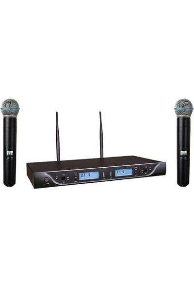 Bots Uhf Çiftli El Mikrofonu Bk302Ee